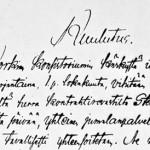 Kuulutus Ylä-Alkeiskoulun avaamisesta 1858