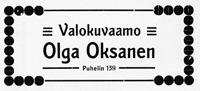 Olga Oksasen valokuvaamon ilmoitus. Jyväskylän ja ympäristön kuvitettu matkaopas 1912.