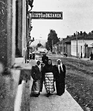 Wäistö & Oksanen -mainoskyltti. Kuva Keski-Suomen museo.