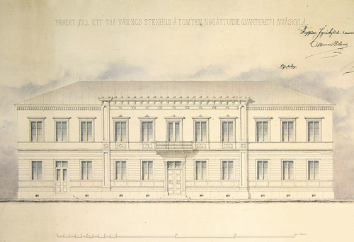 August Bomanin suunnitelmat 1860. Jyväskylän kaupunginarkisto.
