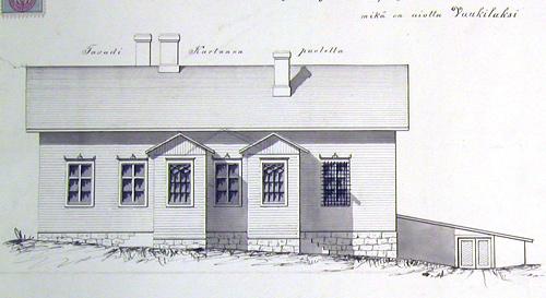 Vankilan piirustus 1883. Jyväskylän kaupunginarkisto.
