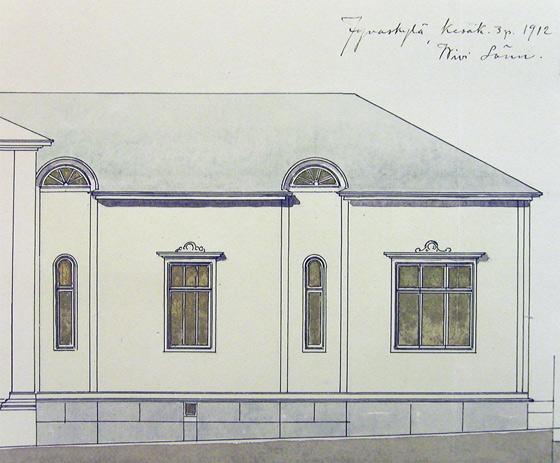 Wivi Lönnin piirustus 1912. Jyväskylän kaupunginarkisto.