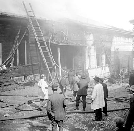 Parviaisen talon tulipalo 1924