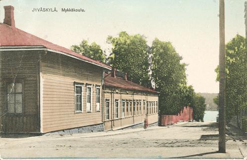 Kauppakatu 10:ssä toimi kuuromykkäkoulu 1900-luvun alusta 1960-luvun loppuun. Postikortti 1900-luvun alusta. Seppo Pohjolan kokoelma.