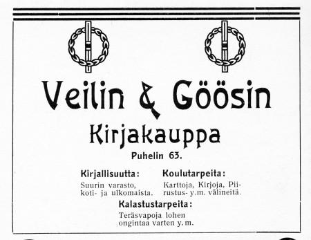 Weilin & Göösin ilmoitus. Jyväskylän ja ympäristön kuvitettu matka-opas 1912.